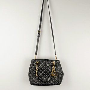 Michael Kors Black Susannah Small Quilted Tote